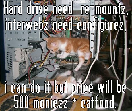 Hard Drive Need Remountz Interweb Need Configurez Funny Computer Meme Picture