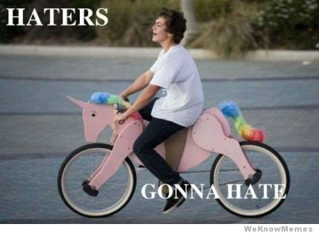 Haters Gonna Hate Funny Bike Meme Picture 30 most funniest bike meme pictures that will make you laugh