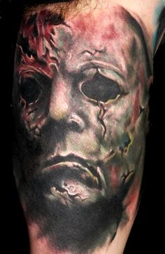 42 unique horror tattoos for Michael myers tattoo