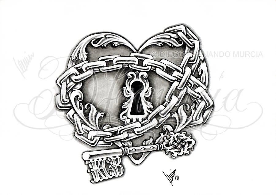 13 skeleton key tattoo designs