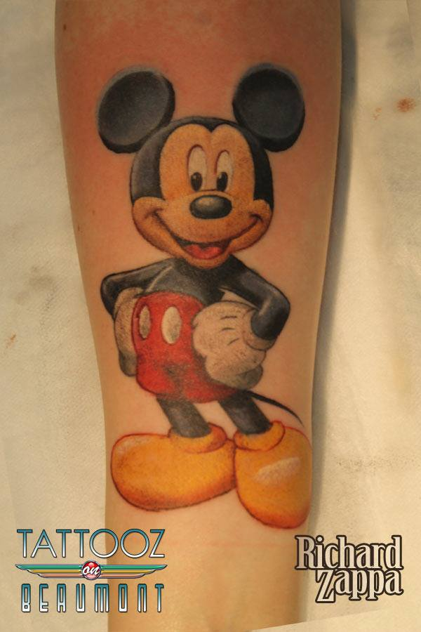mickey mouse tattoo on arm by zuludroog. Black Bedroom Furniture Sets. Home Design Ideas