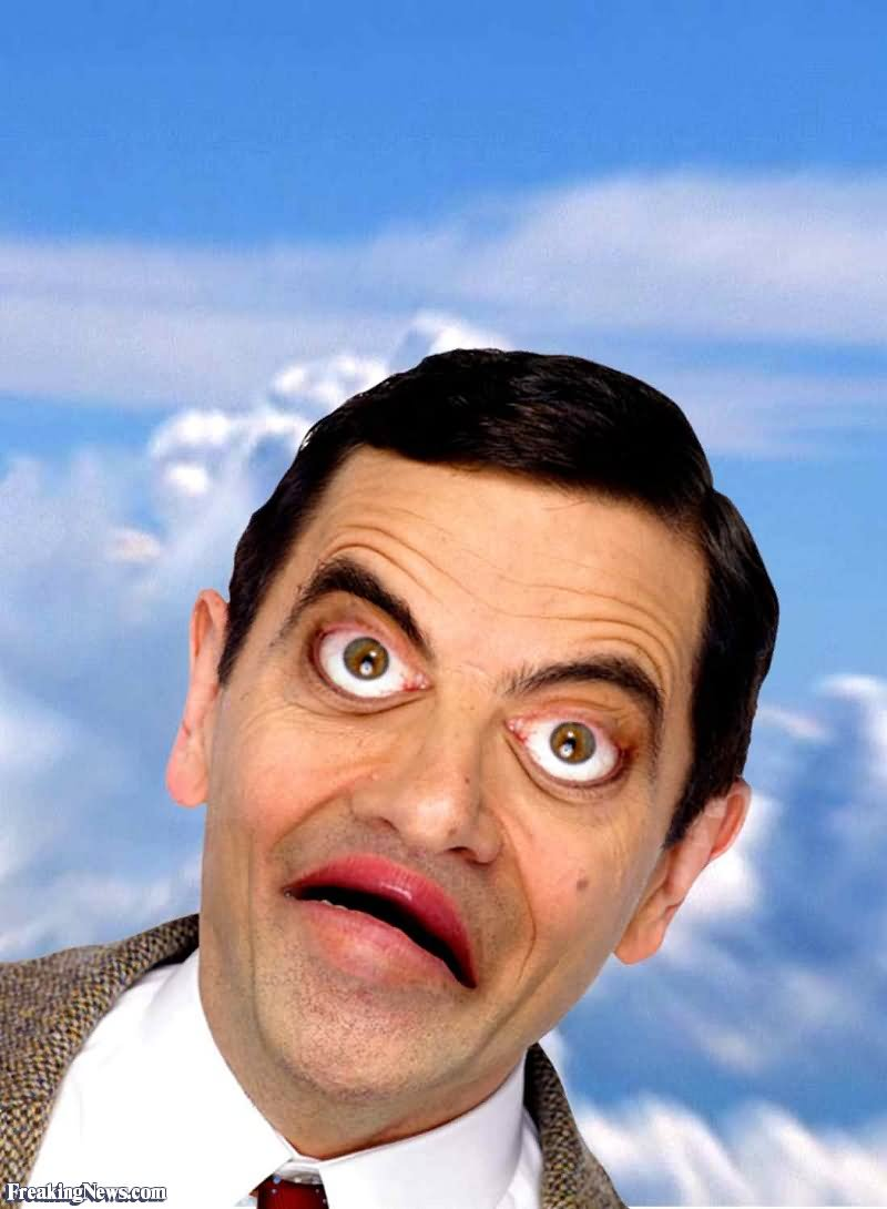 Mr bean with inverted face very funny picture