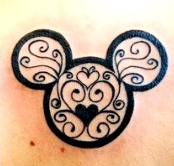 28 outline mickey mouse tattoos