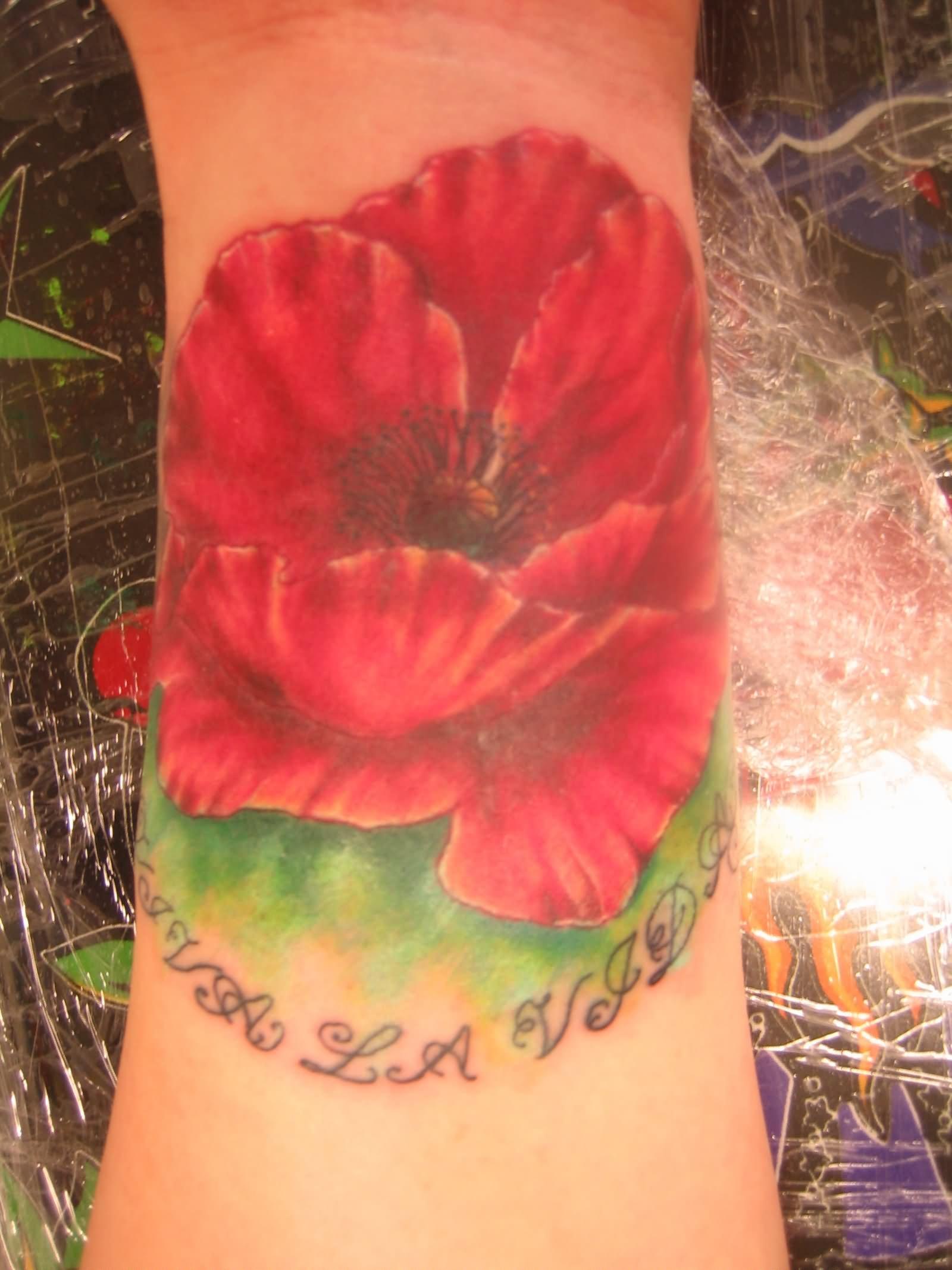 36 Opium Poppy Flowers Tattoos