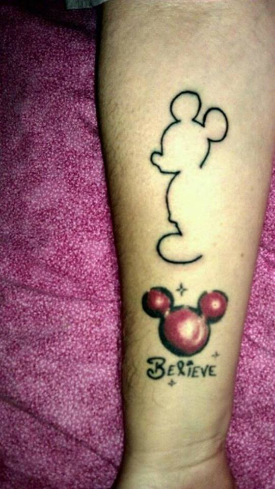 7 simple mickey mouse outline tattoos for Mickey mouse tattoo designs