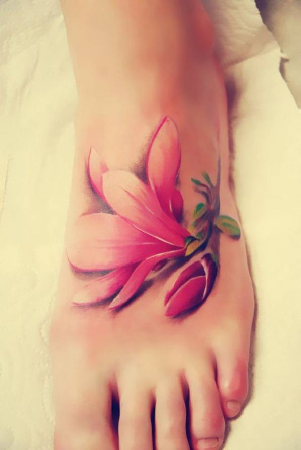 29 poppy flowers foot tattoos for Pink ink tattoo