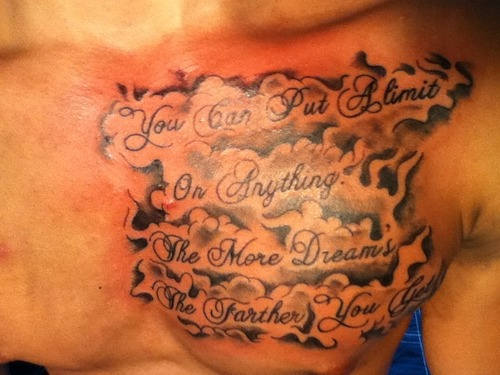 35+ Cloud Tattoos On Chest