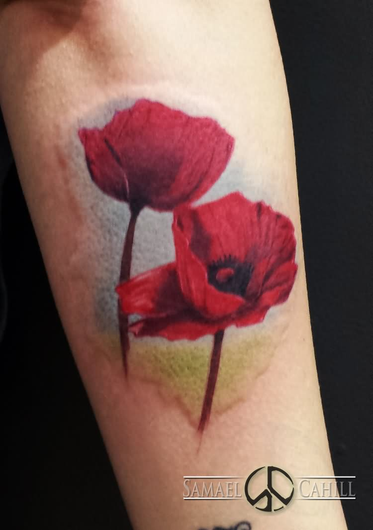 21 Traditional Poppy Tattoos
