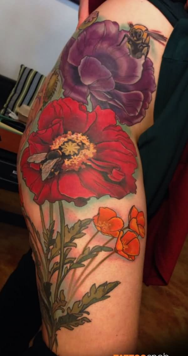 45+ Awesome Poppy Tatt...