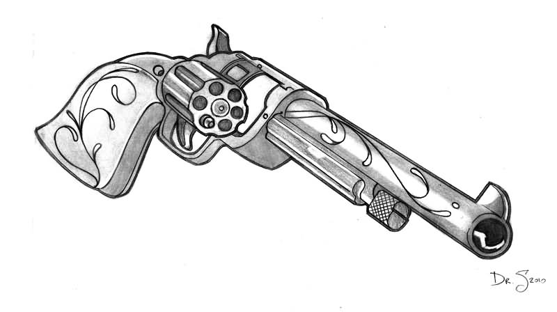 revolver tattoo design by mrpurplebackpackman. Black Bedroom Furniture Sets. Home Design Ideas
