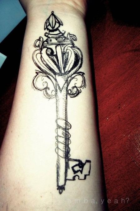 skeleton key tattoo - HD900×1350