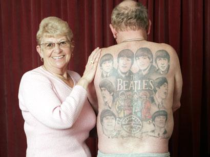 fe7ed28ab The Beatles - Beatles Tattoo On Man Full Back