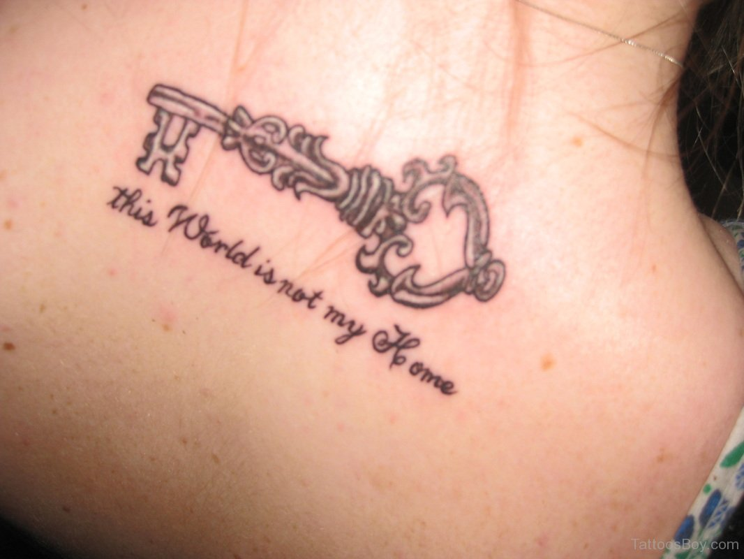65 awesome skeleton key tattoos for Not of this world tattoo
