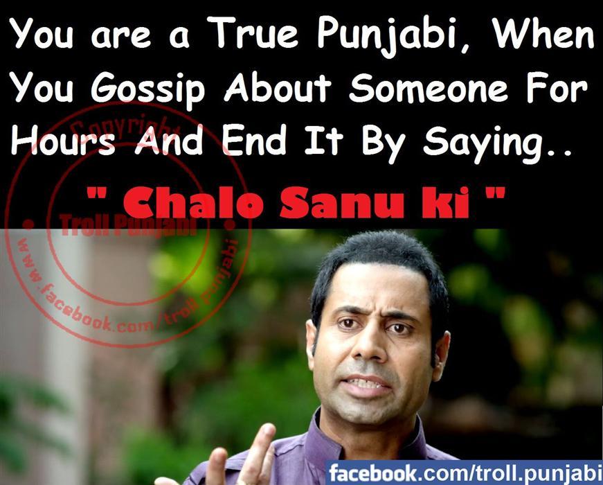 True Punjabi Troll Binnu Dhillon Funny Image