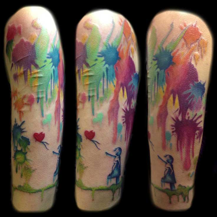 Photos Of Abstract Art Color Tattoo As Fine Info For You