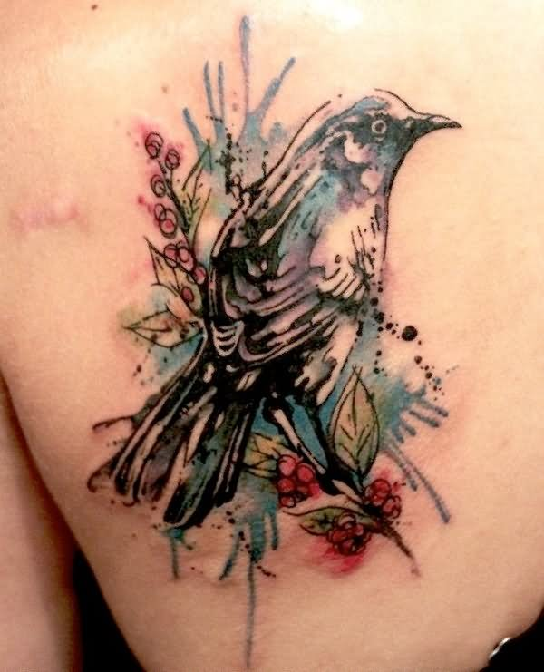 Watercolor Tattoos Abstract Watercolor And: 40+ Abstract Bird Tattoos