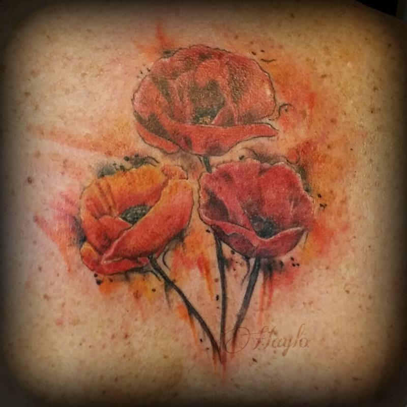 34 Watercolor Poppy Tattoos