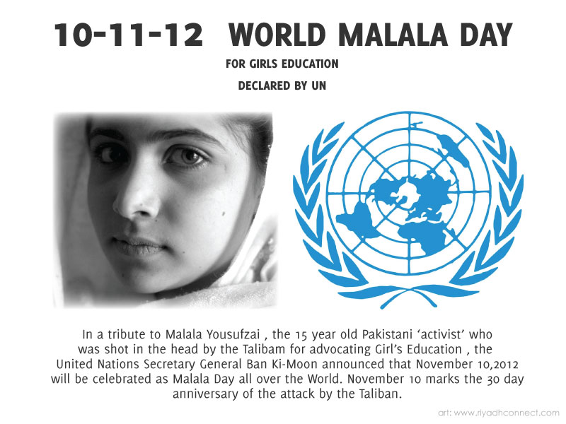 malala day Most children her age would think about boyfriends, hanging out in the mall and watching movies with friends, and sharing snap chat videos of all the cool things that they do.