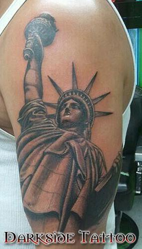 8 statue of liberty half sleeve tattoos. Black Bedroom Furniture Sets. Home Design Ideas