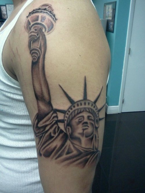 8 Statue Of Liberty Half Sleeve Tattoos