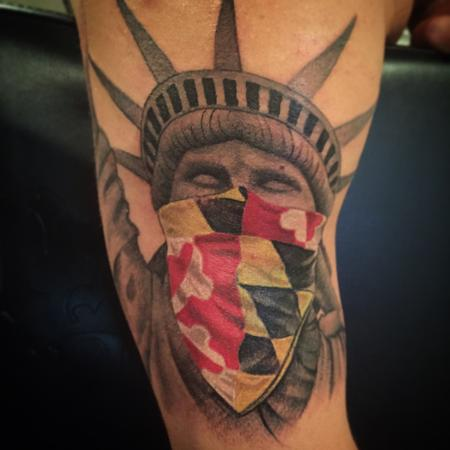 8 statue of liberty half sleeve tattoos. Black Bedroom Furniture Sets. Home Design Ideas
