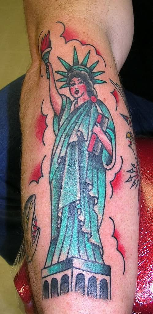 13 traditional statue of liberty tattoos. Black Bedroom Furniture Sets. Home Design Ideas