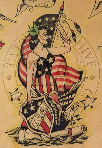 13 pin up statue of liberty tattoos. Black Bedroom Furniture Sets. Home Design Ideas