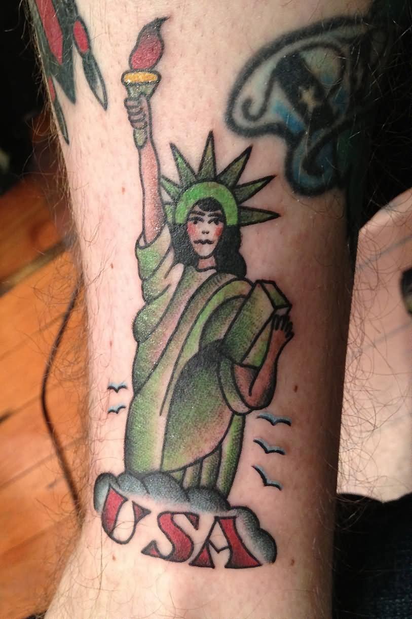 3fa4cf879 Traditional Statue Of Liberty Tattoo Design