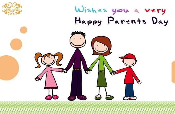 Wishes You A Very Happy Parents Day Clip Art