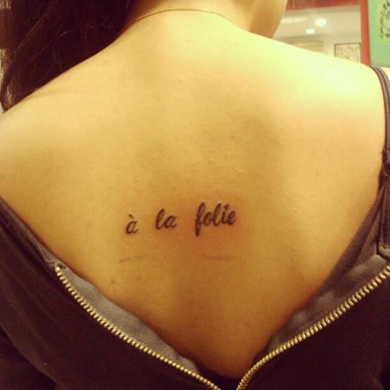 Tattoo Ideas Words: 25+ Amazing Words Tattoos On Back