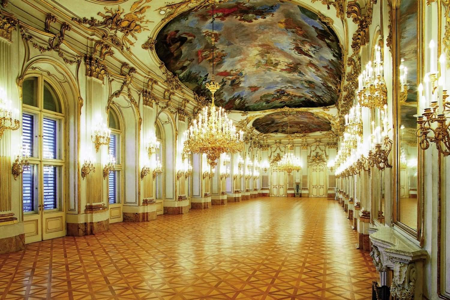 Amazing Ceiling Architecture Inside The Schonbrunn Palace