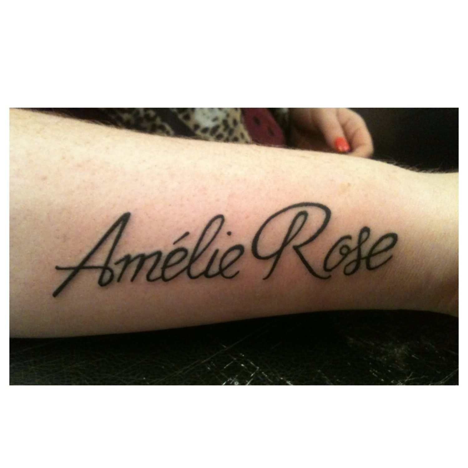 bfd1372f2 Amelie Rose Baby Name Tattoo Design For Sleeve