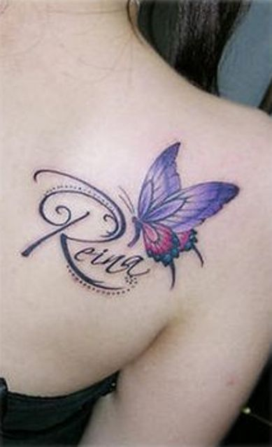 Infinity Tattoos With Butterflies 28+ Name Tattoos On Sh...