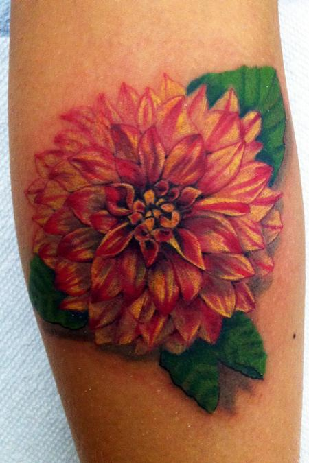 45 beautiful dahlia tattoos rh askideas com dahlia flower tattoo designs black dahlia flower tattoo