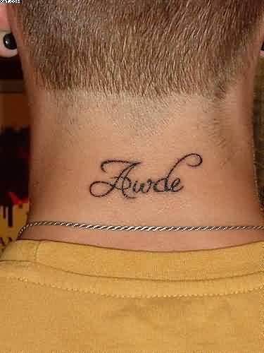 24+ Back Neck Tattoos ...