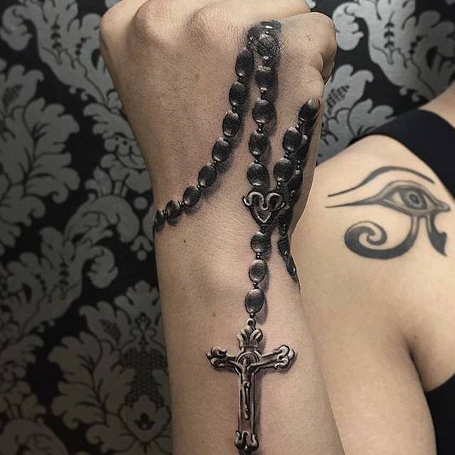 4 Cool Rosary Tattoo Designs
