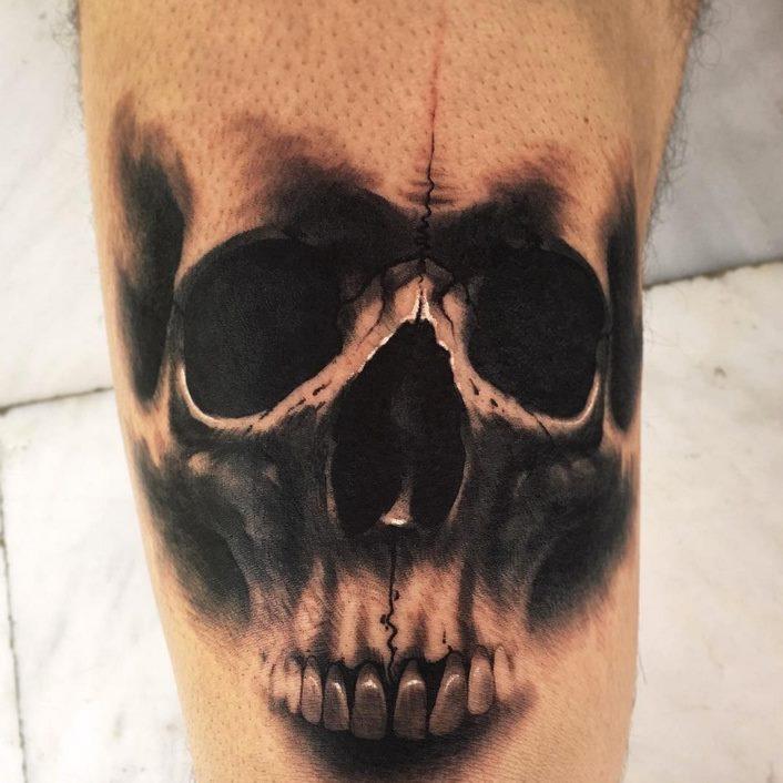 cc04b4227 Black And Grey Skull Tattoo Done At Sake Tattoo Crew Studio
