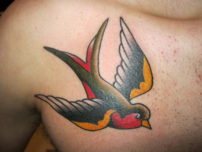 10 sparrow tattoos on front shoulder. Black Bedroom Furniture Sets. Home Design Ideas