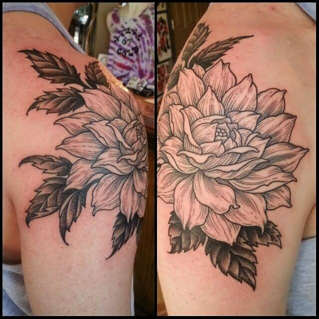 45+ beautiful dahlia tattoos