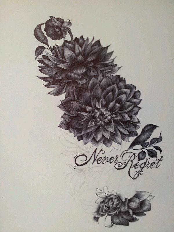 11+ dahlia flowers tattoo designs