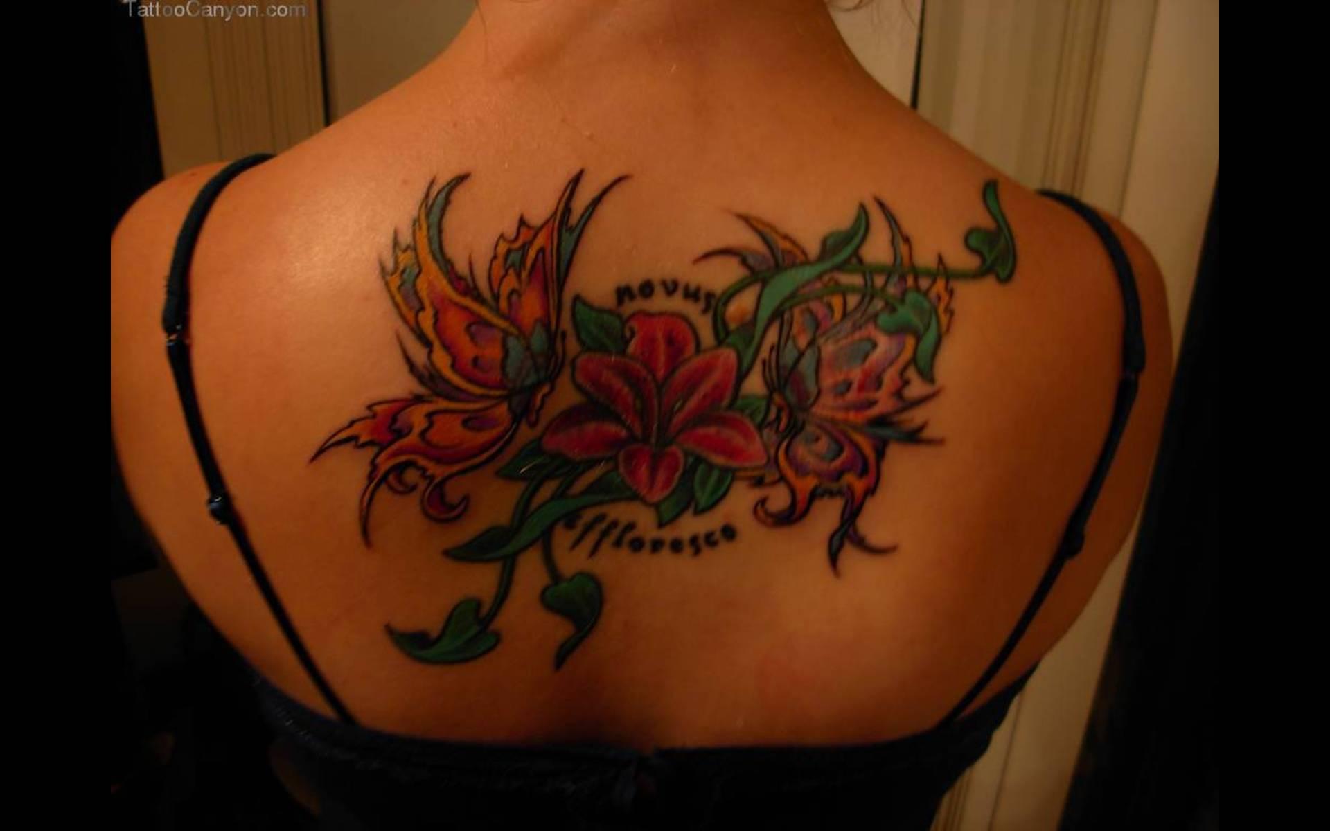Flower Back Tattoo Ideas: 31+ Lovely Upper Back Tattoos