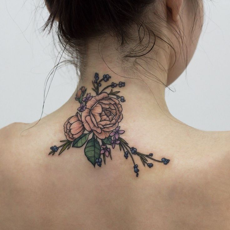 40 Beautiful Back Neck Tattoos For Women: 49+ Beautiful Back Neck Tattoos