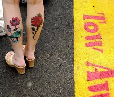 42+ Calf Tattoos For Girls