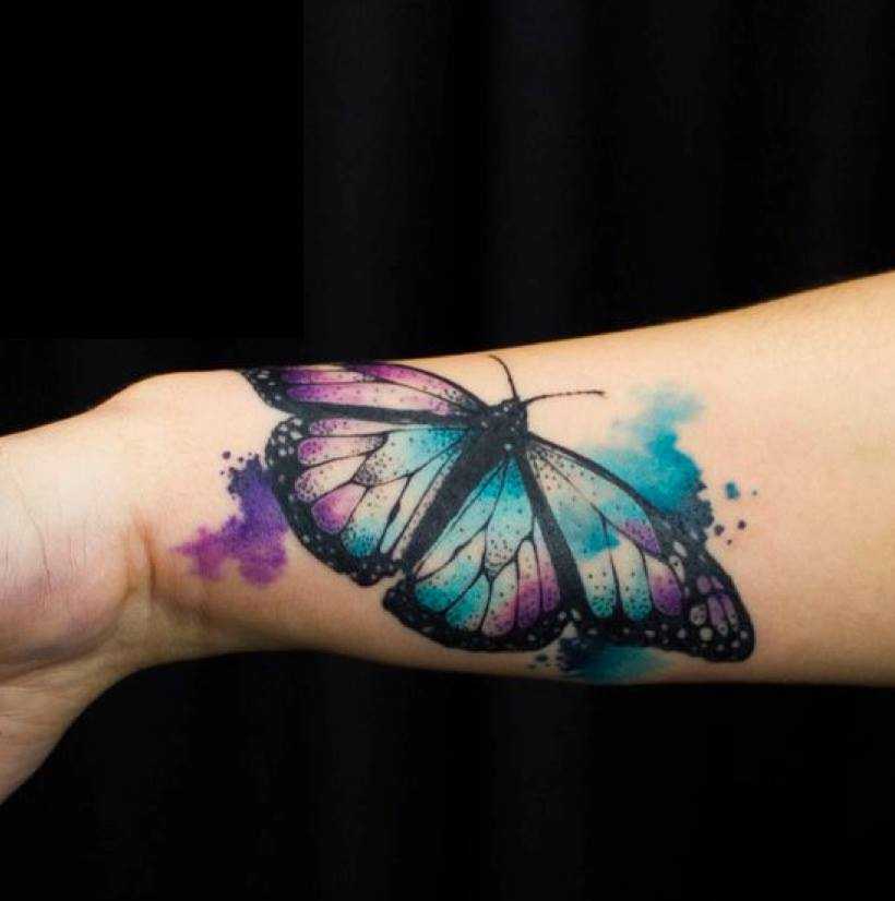 5 nice butterfly tattoos for Butterfly tattoo arm designs