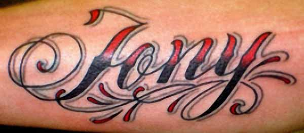 Cool Jony Name Tattoo Design