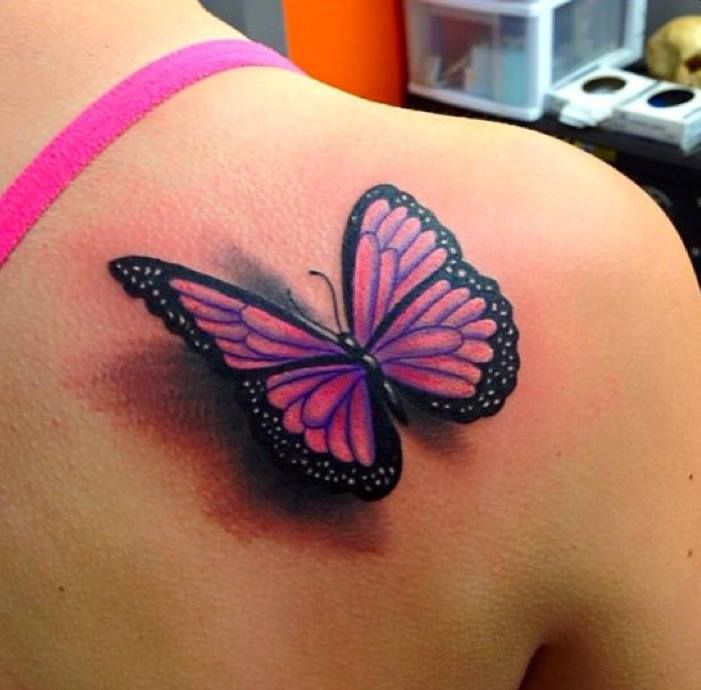nice butterfly tattoo on right shoulder. Black Bedroom Furniture Sets. Home Design Ideas