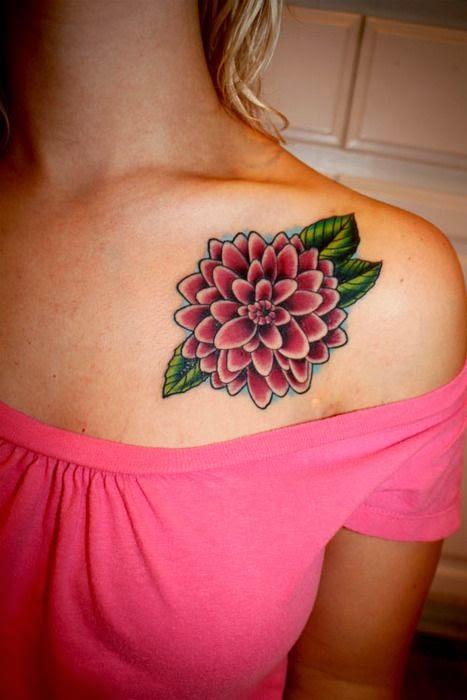 45 beautiful dahlia tattoos rh askideas com dahlia flower tattoo pinterest black dahlia flower tattoo