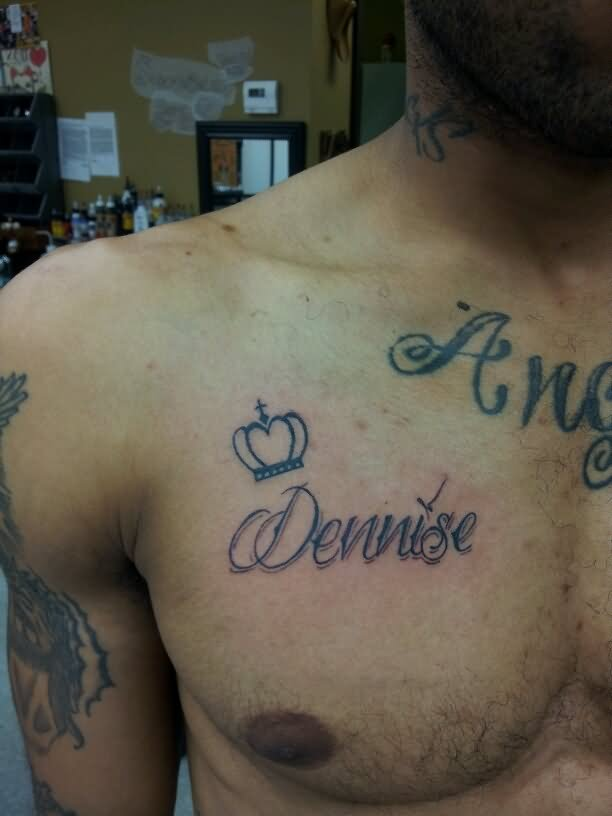 38+ Name Tattoos On Chest
