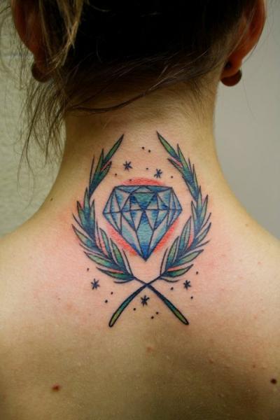 Universe diamond on neck by tyler malek - Tatouage diamant femme ...