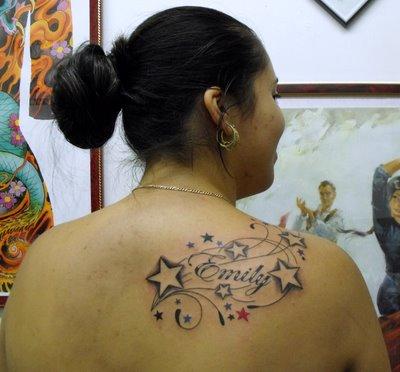 28 name tattoos on shoulder. Black Bedroom Furniture Sets. Home Design Ideas